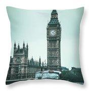 London Times Throw Pillow