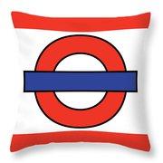 London Underground Blank Throw Pillow