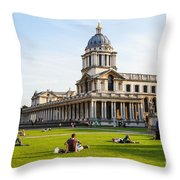 London University Greenwich Throw Pillow