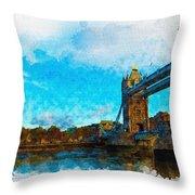 London Unveiled Throw Pillow