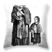 London, Vagrants, 1861 Throw Pillow