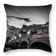 London Westminster Bridge At Sunset Throw Pillow