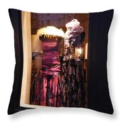 London Window By Night Throw Pillow