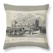London Windsor Castle East Terrace, The Queen's Private Apartments Throw Pillow