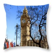 London's Big Ben Throw Pillow
