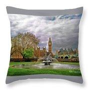 London's Big Ben  Throw Pillow