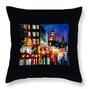 London's Lights Throw Pillow