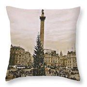 London's Trafalgar Square Throw Pillow