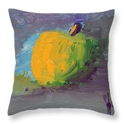 Lone Apple Throw Pillow