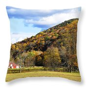 Lone Barn Fall Color Throw Pillow