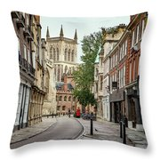 Lone Biker Throw Pillow