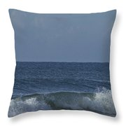 Lone Boat On The Horizon Throw Pillow