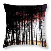 Lone Butte Sunset Throw Pillow