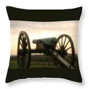 Lone Cannon Throw Pillow