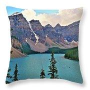 Lone Canoe Throw Pillow