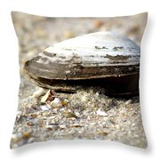 Lone Clam Throw Pillow