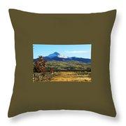 Lone Cone Mountain Throw Pillow