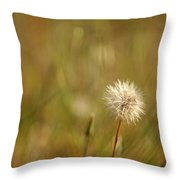 Lone Dandelion 2 Throw Pillow