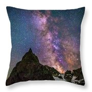 Lone Eagle Peak Dancing In The Milky Way Throw Pillow