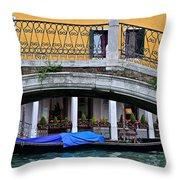 Lone Gondola Throw Pillow