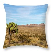 Lone Joshua Tree - Pleasant Valley Throw Pillow