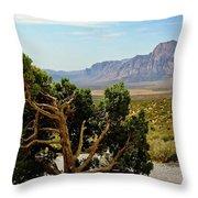 Lone Juniper At Red Rock Throw Pillow