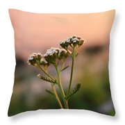 Lone Lady Throw Pillow