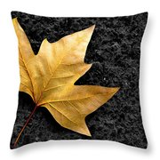 Lone Leaf Throw Pillow by Carlos Caetano