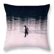 Lone Loon Throw Pillow