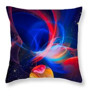 Lone Moon Throw Pillow