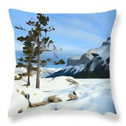 Lone Pines On Lakeshore Throw Pillow