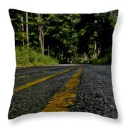 Lone Road Throw Pillow