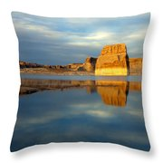 Lone Rock Glow Throw Pillow