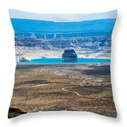 Lone Rock In Lake Powell Utah Throw Pillow