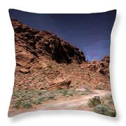 Lone Rock Road Overton Nevada  Throw Pillow