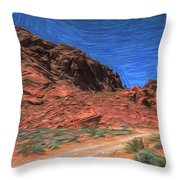 Lone Rock Road Paint  Throw Pillow