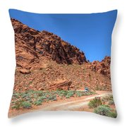 Lone Rock Valley Of Fire  Throw Pillow