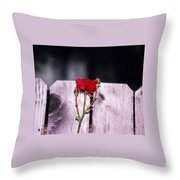 Lone Rose Throw Pillow