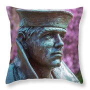 Lone Sailor In Color Throw Pillow