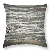Lone Sea Gull Throw Pillow
