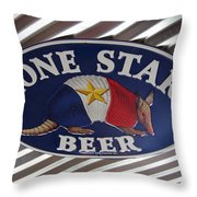 Lone Star Beer Throw Pillow