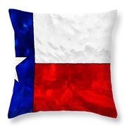 Lone Star Stained Glass Throw Pillow