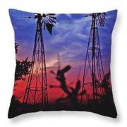 Lone Star Sunset Throw Pillow