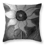 Lone Sunflower Iv Throw Pillow