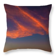 Lone Tree And Twilight Clouds Throw Pillow