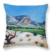 Lone Tree At The Ghost Ranch Throw Pillow