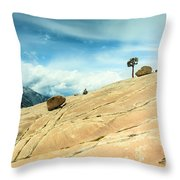 Lone Tree At Yosemite Throw Pillow