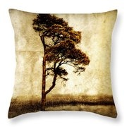 Lone Tree Throw Pillow by Julie Hamilton