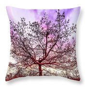 Lone Tree On The Hill Throw Pillow