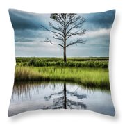 Lone Tree Reflected Throw Pillow